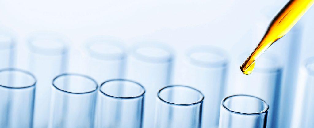 several test tubes
